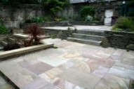 Edinburgh landscapers - note use of Indian Flagstone for patio.