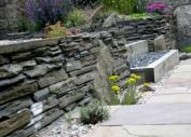 Edinburgh garden designers - another view of stone dyke walling.