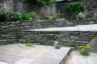 Edinburgh gardeners - another stone dyke wall.
