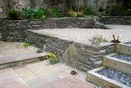 Edinburgh landscapers - note stone dyke walling.