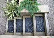Edinburgh gardeners - note top view of steps made from wooden sleepers.