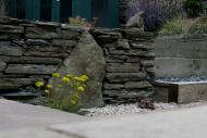 Edinburgh landscapers - note close up of stone dyke walling.